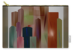 Carry-all Pouch featuring the digital art The Block by John Krakora