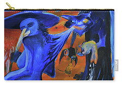 The Cat And The Witch Carry-all Pouch by Christophe Ennis