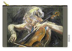 Carry-all Pouch featuring the painting The Cellist by Debora Cardaci