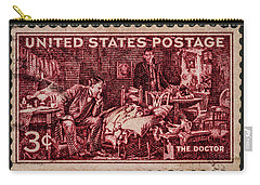 The Doctor - Concerned Physician Postage Stamp Carry-all Pouch