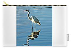 The Egret Carry-all Pouch by Allen Beilschmidt