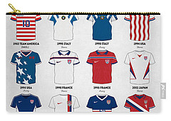 The Evolution Of The Us World Cup Soccer Jersey Carry-all Pouch