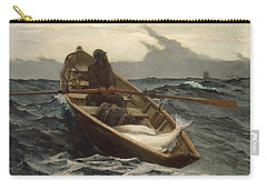 Carry-all Pouch featuring the painting The Fog Warning - 1885 by Winslow Homer