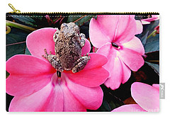 The Frog And The Flower Carry-all Pouch