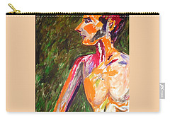 Carry-all Pouch featuring the painting Benjamin Beseiged by Esther Newman-Cohen