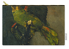 The Green Parrot Carry-all Pouch by Vincent Van Gogh