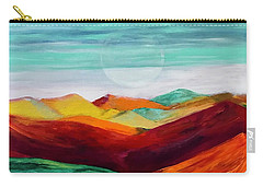 Carry-all Pouch featuring the painting The Hills Are Alive by Kim Nelson