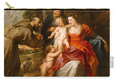 The Holy Family With Saints Francis And Anne And The Infant Saint John The Baptist Carry-all Pouch by Peter Paul Rubens