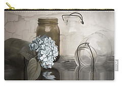 Carry-all Pouch featuring the mixed media The Looking Glass by Robin-Lee Vieira
