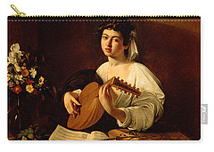 The Lute-player Carry-all Pouch by Caravaggio