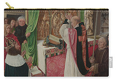 The Mass Of Saint Giles Carry-all Pouch by Master of Saint Giles