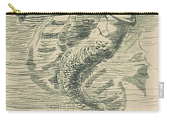 Mermaid Tail Drawings Carry-All Pouches
