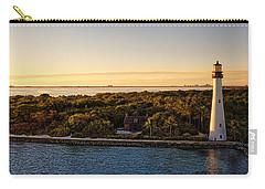 Carry-all Pouch featuring the photograph The Miami Lighthouse by Lars Lentz
