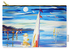 The Moon And The Sails Carry-all Pouch