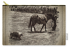 Carry-all Pouch featuring the photograph The New Mare And The Perfect Summer Day by Anastasia Savage Ealy