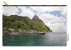Carry-all Pouch featuring the photograph The Pilons by Gary Wonning