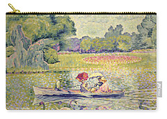 The Promenade In The Bois De Boulogne Carry-all Pouch by Henri-Edmond Cross