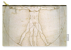 The Proportions Of The Human Figure Carry-all Pouch by Leonardo da Vinci