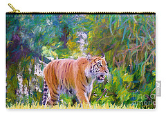 Carry-all Pouch featuring the painting The  Prowler by Judy Kay