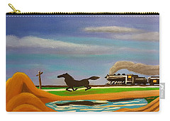 Carry-all Pouch featuring the painting The Race by Margaret Harmon
