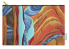 Carry-all Pouch featuring the painting The Rocks Cried Out, Zion by Erin Fickert-Rowland