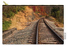 Carry-all Pouch featuring the photograph The Tracks In The Fall by Mark Dodd