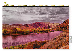 Carry-all Pouch featuring the photograph The Yakima River by Jeff Swan