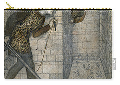 Theseus And The Minotaur In The Labyrinth Carry-all Pouch by Edward Burne-Jones
