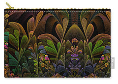 Carry-all Pouch featuring the digital art This Peculiar Life - Fractal Art by NirvanaBlues