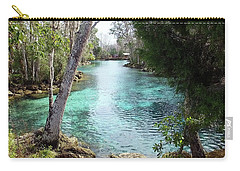 View From Spring 3 To Spring 2 At Three Sisters Springs Carry-all Pouch
