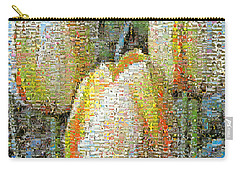 Three Yellow Tulips Carry-all Pouch by Michelle Calkins