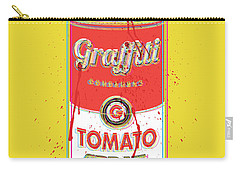 Tomato Spray Can Carry-all Pouch by Gary Grayson