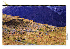 Carry-all Pouch featuring the photograph Torres Del Paine 003 by Bernardo Galmarini