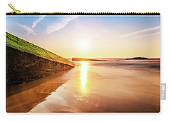 Carry-all Pouch featuring the photograph Touching The Golden Cloud by Thierry Bouriat