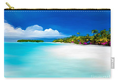 Carry-all Pouch featuring the digital art Tranquil Beach by Anthony Fishburne