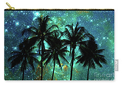 Carry-all Pouch featuring the photograph Tropical Night by Delphimages Photo Creations