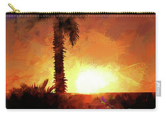 Tropical Sunset Carry-all Pouch by Scott Cameron