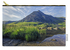 Carry-all Pouch featuring the photograph Tryfan Mountain by Ian Mitchell