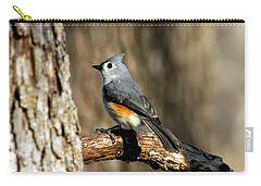 Tufted Titmouse On Branch Carry-all Pouch