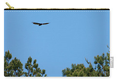 Carry-all Pouch featuring the digital art Turkey Vulture In Flight by Chris Flees