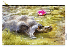 Turtle Takes A Swim Carry-all Pouch by Ricky Dean