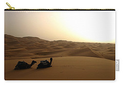 Two Camels At Sunset In The Desert Carry-all Pouch