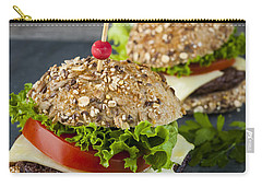 Two Gourmet Hamburgers Carry-all Pouch by Elena Elisseeva