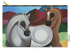 Two Ponies Carry-all Pouch by Lance Headlee