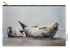 Carry-all Pouch featuring the photograph Two's Company by Robin-Lee Vieira