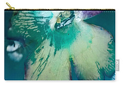 Underwaterflower Abstraction 6 Carry-all Pouch by Lorella Schoales