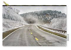 Carry-all Pouch featuring the photograph Unexpected Autumn Snow Highland Scenic Highway by Thomas R Fletcher