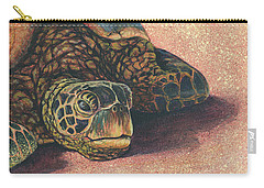 Carry-all Pouch featuring the painting Honu At Rest by Darice Machel McGuire
