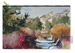 Carry-all Pouch featuring the painting Up A Creek by Kris Parins
