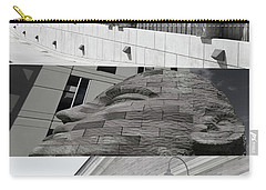 Carry-all Pouch featuring the photograph Uptown Library by Susan Stone